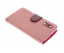 Linnen look TPU booktype Alcatel One Touch Pop C7