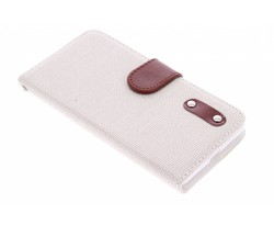 Linnen look TPU booktype hoes Microsoft Lumia 535