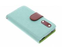 Groen linnen look TPU booktype Sony Xperia Z3 Compact