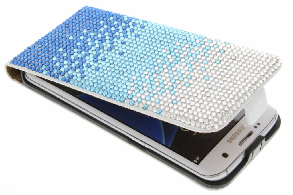 Glazen strass flipcase voor de Samsung Galaxy S7 Edge