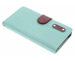 Groen linnen look TPU booktype Sony Xperia M4 Aqua