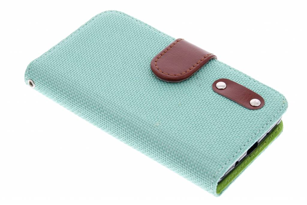 Groene linnen look TPU booktype hoes voor de Huawei Ascend Y530