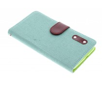 Linnen look TPU booktype hoes Huawei Ascend G7