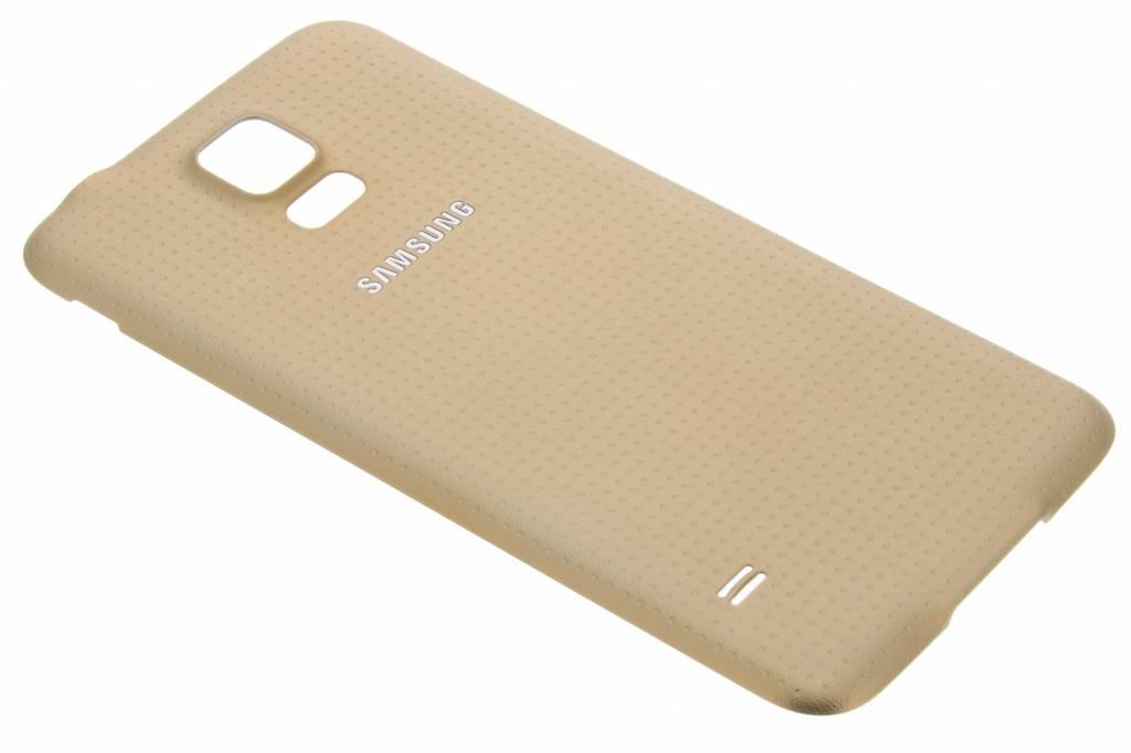Samsung originele Geperforeerde Back Cover voor de Galaxy S5 (Plus) / Neo - Goud