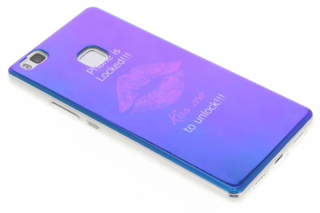 Metallic Kiss design TPU hoesje voor de Huawei P9 Lite