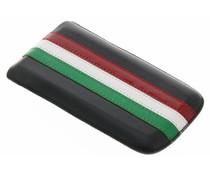 Italy flag lederen insteekhoes Samsung Galaxy S2 (Plus)