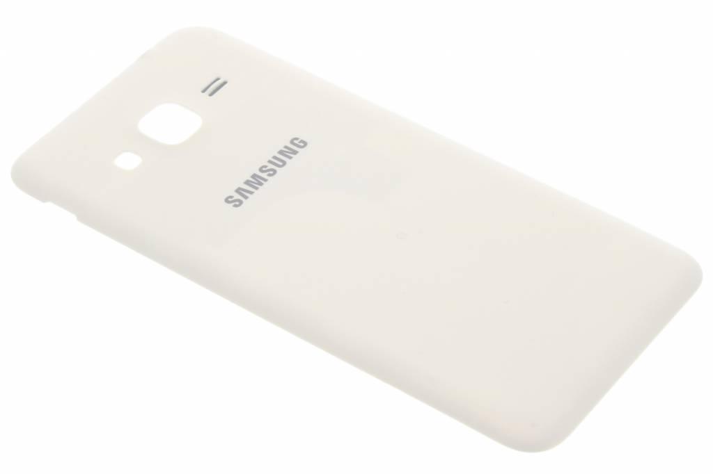 Samsung originele Metallic Back Cover voor de Samsung Galaxy J3 / J3 (2016) - Wit