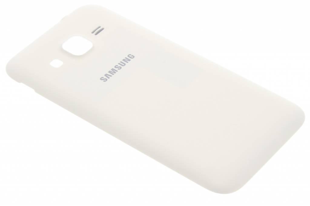 Samsung originele Metallic Back Cover voor de Samsung Galaxy Core Prime - Wit
