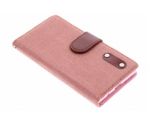 Linnen look TPU booktype hoes Huawei Ascend P7