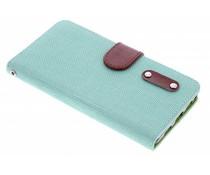 Groen linnen look TPU booktype Huawei P8 Lite