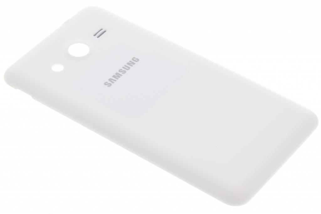 Samsung originele Lederen Back Cover voor de Samsung Galaxy Core 2 - Wit
