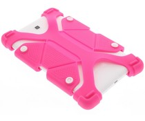 Roze universele siliconen tablethoes 8.9 - 12 inch