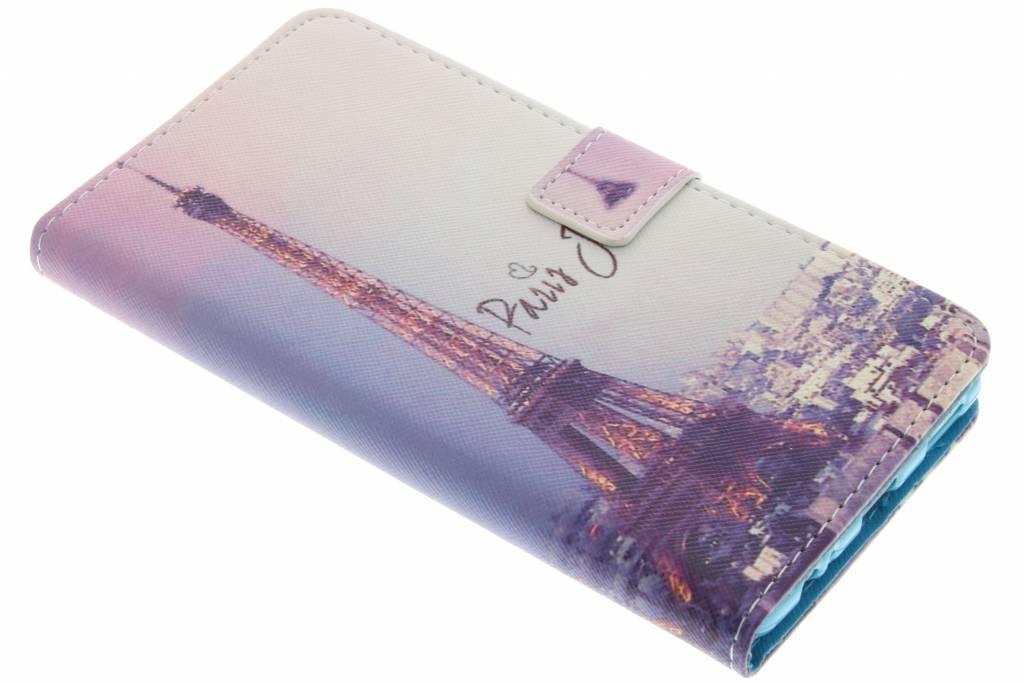 Parijs design TPU booktype hoes voor de Huawei P9 Plus