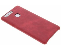 Rood TPU Leather Case Huawei P9 Plus