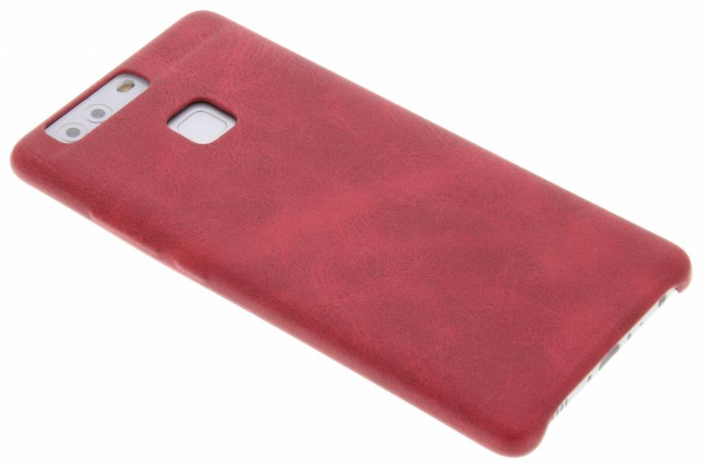 Rode TPU Leather Case voor de Huawei P9 Plus