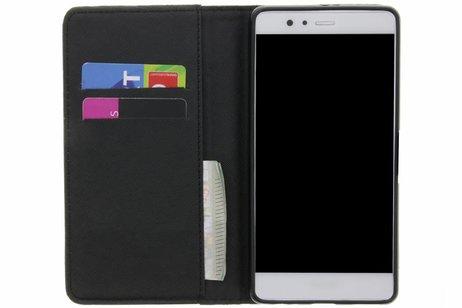 Être Heureux Cas Conception Booktype Tpu Pour P9 Huawei, Plus