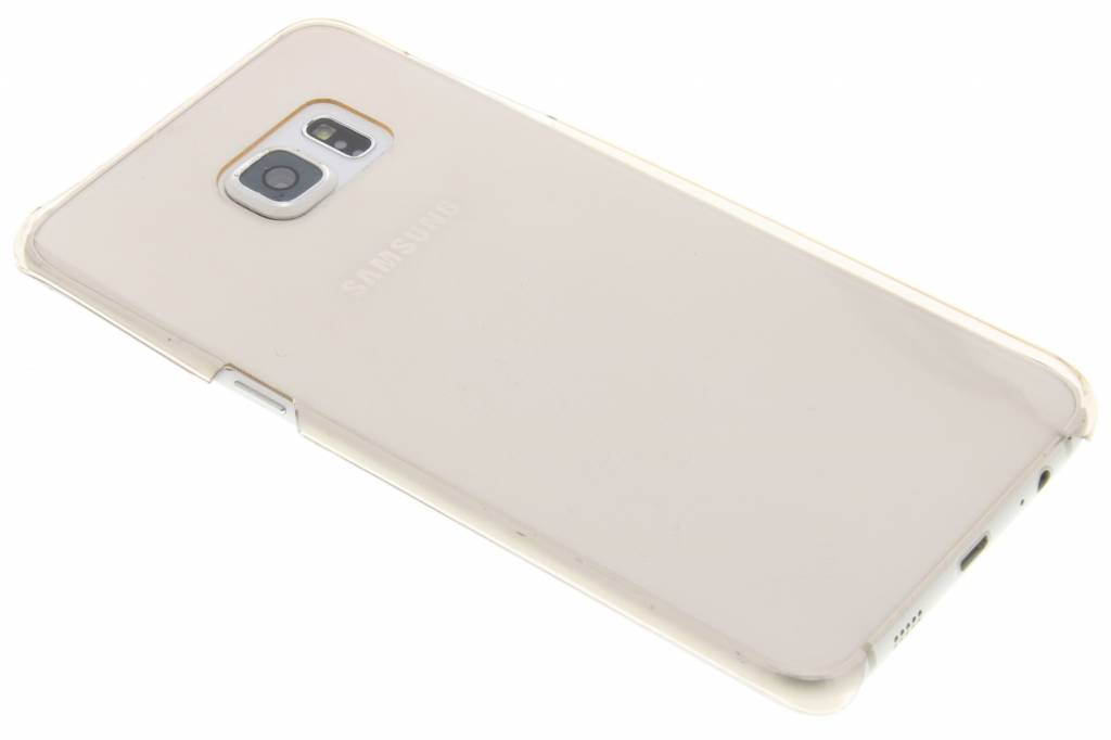 Gouden transparante hardcase voor de Samsung Galaxy S6 Edge Plus