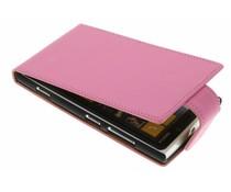 Roze classic flipcase Nokia Lumia 920