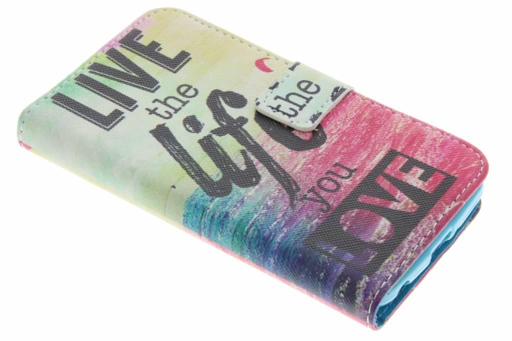 Live the life design TPU booktype hoes voor de LG K4