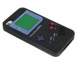 Zwart siliconen hoesje Gameboy iPhone 4 / 4s