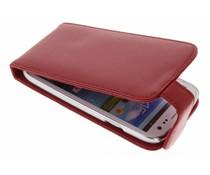 Rood stijlvolle flipcase Samsung Galaxy S3 / Neo