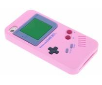 Roze siliconen hoesje Gameboy iPhone 4 / 4s