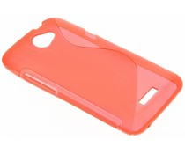 Rood S-line TPU hoesje HTC One X (Plus)