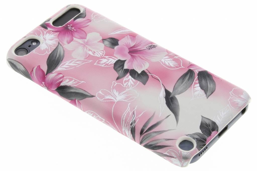 Roze bloemen hardcase hoesje voor de iPod Touch 5g / 6