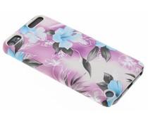 Paars bloemen hardcase hoesje iPod Touch 5g / 6