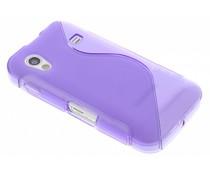 Paars S-line TPU hoesje Samsung Galaxy Ace
