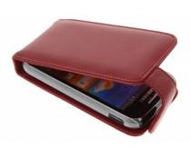 Rood stijlvolle flipcase Samsung Galaxy Ace 2