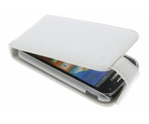 Wit stijlvolle flipcase Samsung Galaxy Ace 2