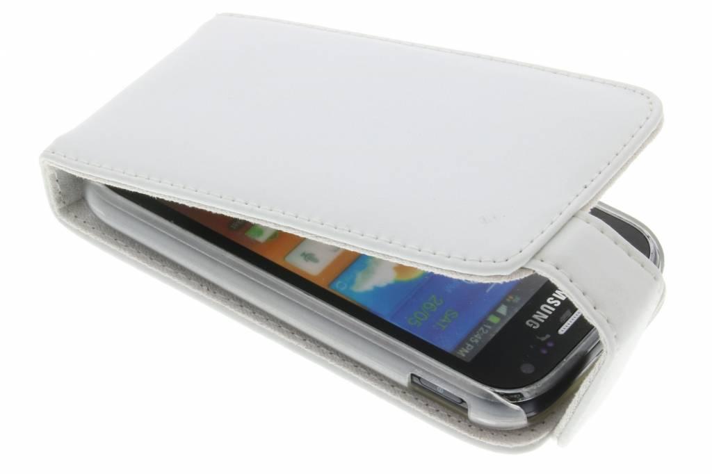 Witte stijlvolle flipcase voor de Samsung Galaxy Ace 2