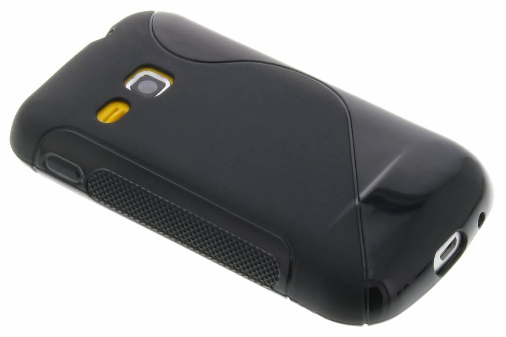 Zwart S-line flexibel TPU hoesje voor Samsung Galaxy Mini 2