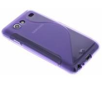 Paars S-line TPU hoesje Samsung Galaxy S Advance