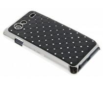 Zwart hardcase hoesje met strass-steentjes Galaxy S Advance