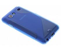 Blauw S-line TPU hoesje Samsung Galaxy S Advance