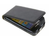 Zwart luxe flipcase Samsung Galaxy S Advance