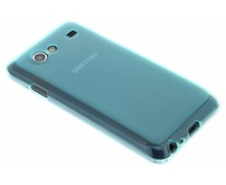 Turquoise hard siliconen hoesje Galaxy S Advance