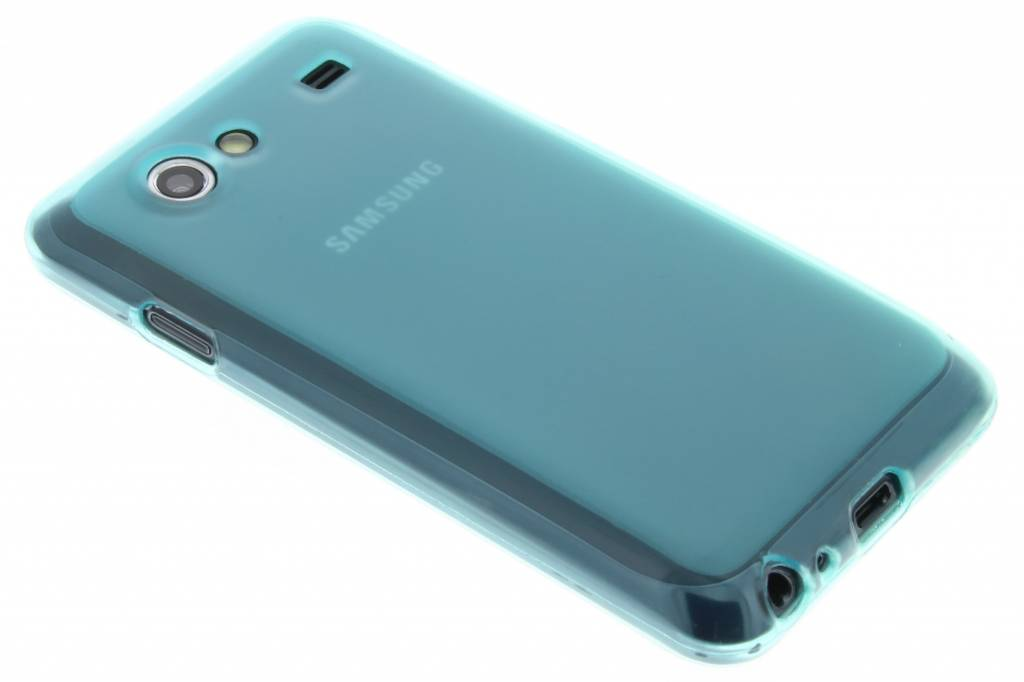 Turquoise hard siliconen hoesje voor de Samsung Galaxy S Advance