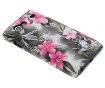 Zwart bloemen hardcase hoesje Galaxy S Advance