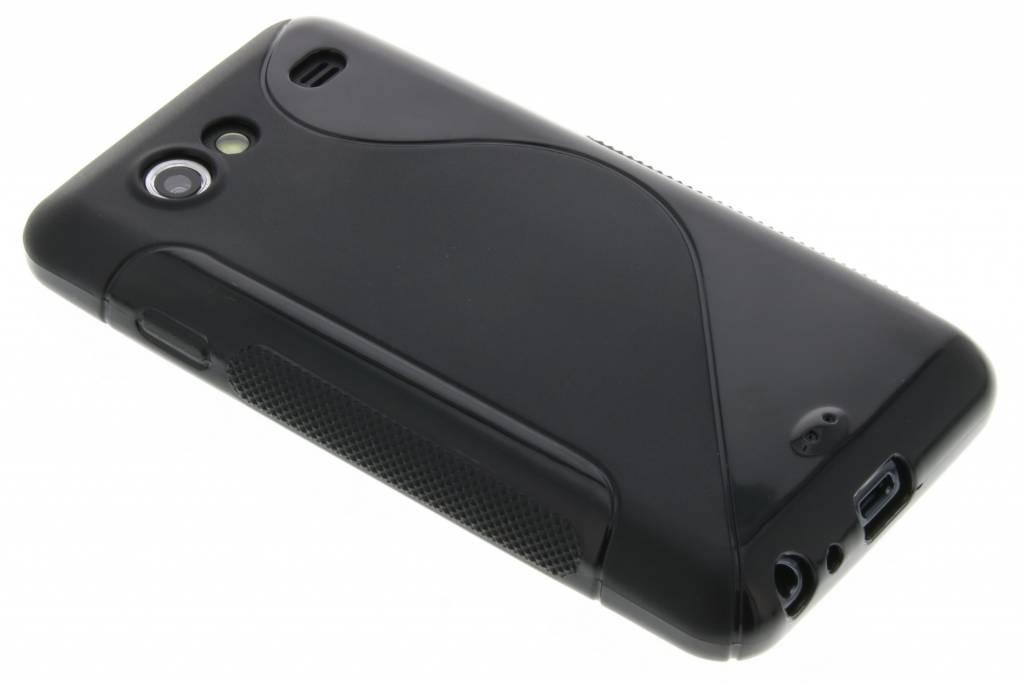 Zwart S-line flexibel TPU hoesje voor Samsung Galaxy S Advance i9070