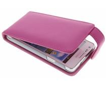 Fuchsia stijlvolle flipcase Samsung Galaxy S2 (Plus)