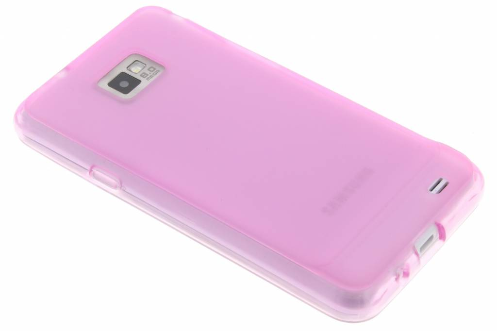 Effen hard siliconen hoesje voor de Samsung Galaxy S2 (Plus)