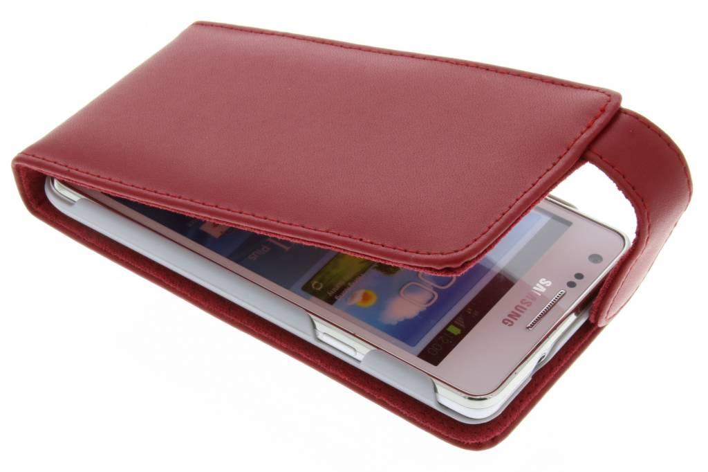 Rode stijlvolle flipcase voor de Samsung Galaxy S2 (Plus)