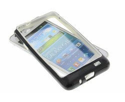 Zwart/wit bumper Samsung Galaxy S2 (Plus)