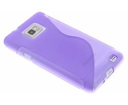 Paars S-line TPU hoesje Samsung Galaxy S2 (Plus)