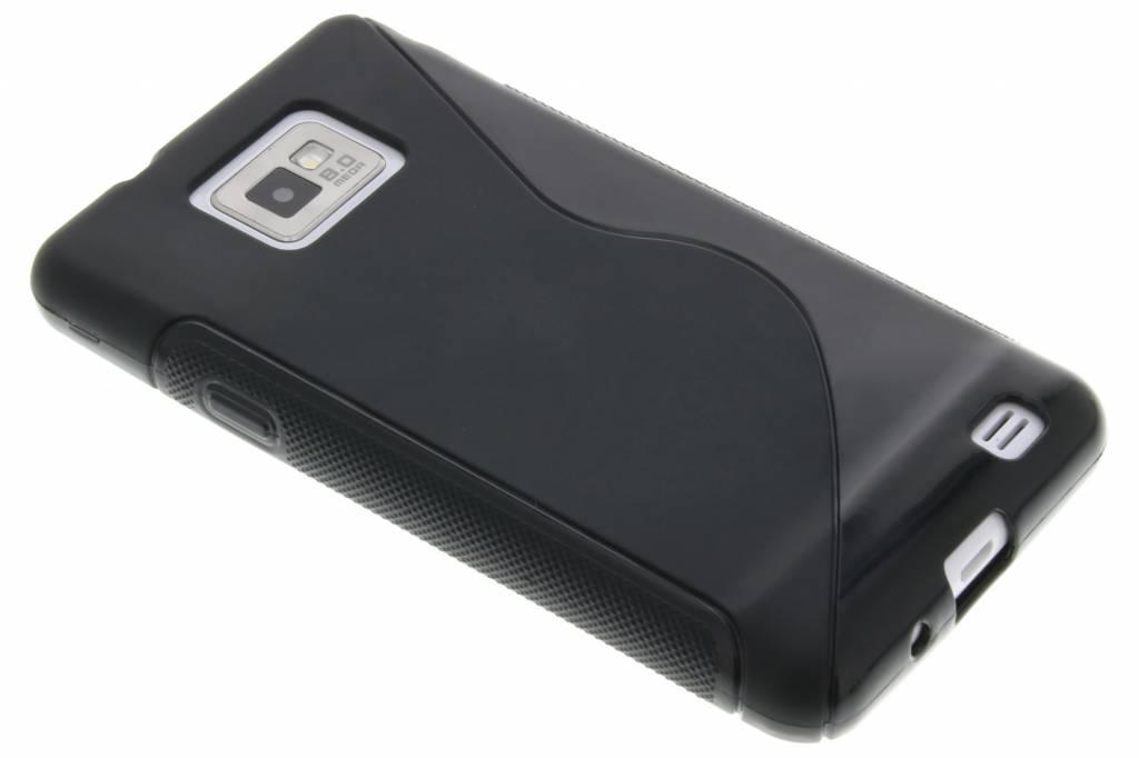 Zwart S-line flexibel TPU hoesje voor Samsung Galaxy S2 (Plus)