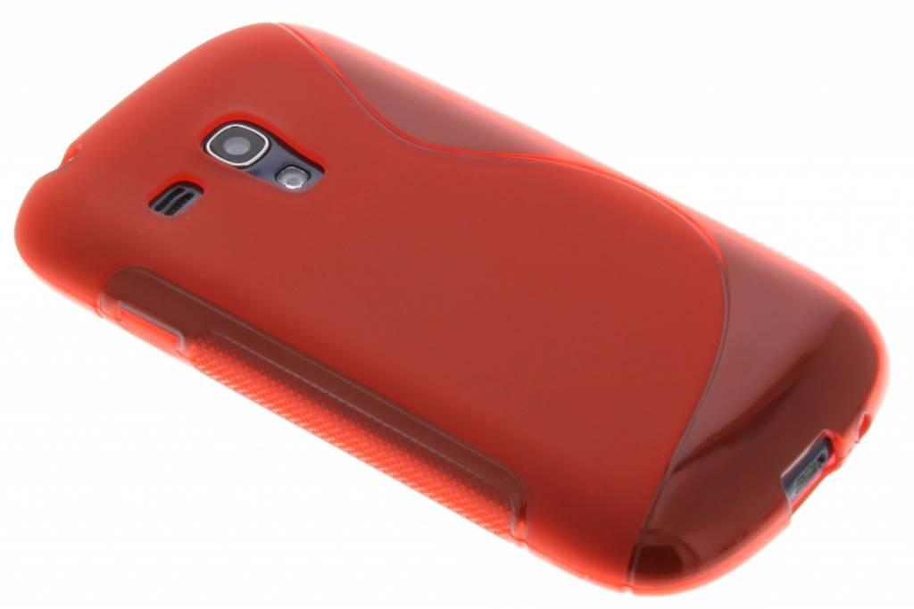 Rood S-line flexibel TPU hoesje voor Samsung Galaxy S3 Mini i8190