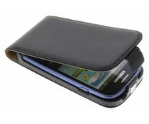 Zwart luxe flipcase Galaxy S3 Mini